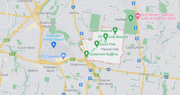 Pascoe Vale Map Area